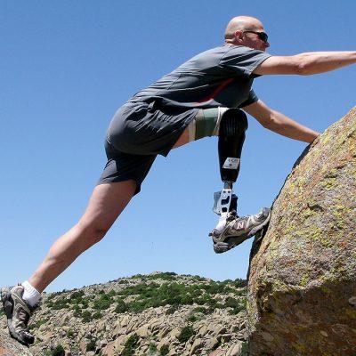 Protesis para subir montañas